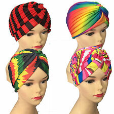 Designer Turban Hat Hijab Hair loss Bonnet Cap Stretch fabric Underscarf Chemo