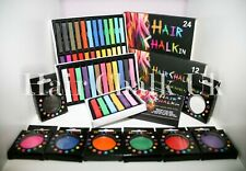 HAIR CHALK UK- 1, 6, 12 & 24 Piece Sets, Wash out hair colour, fancy dress, fun