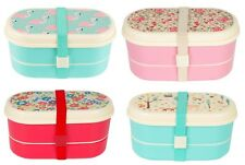 Vintage Floral Rose Bento Lunch Box Portable Food Container Set Sass & Belle