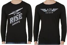 Tshirt Combo - Full Sleeve T shirt , Black Rise Above and Air Force Printed