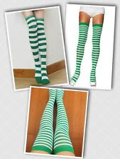 Women's Rugby Striped Socks Over the Knee Elf Thigh Highs Crazy Sock Day