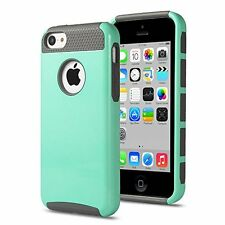 ULAK 2in1 Shield Series Rugged TPU Hybrid Case for  iPhone 5C - Mint Green /