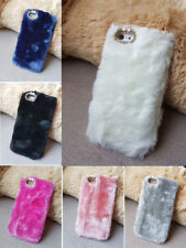 Luxury Warm Soft Fur Hair Back Case Cover For iPhone 4 4S 5 5S 5C 6/6s 6/6splus