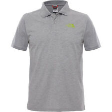 North Face Piquet Mens T-shirt Polo Shirt - Tnf Medium Grey Heather All Sizes