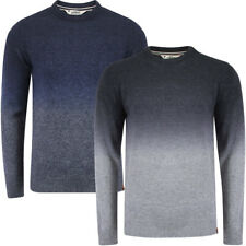 New Mens Tokyo Laundry Saw Ombre Long Sleeve Knitted Jumper Sweater Top S-XXL