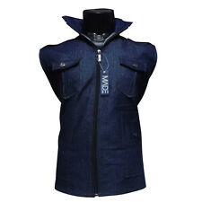 Mens Sleveless Jacket, Denim Look Jacket, Hoody Jacket , Mens jacket