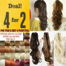 Real quality Claw ponytail clip in hair extensions Jaw big wavy good looking