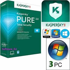 Kaspersky Pure 3.0 Totale Sicurezza- Licenza 1 anno / 3 Computer / PC