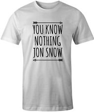 You Know Nothing Jon Snow Mens T Shirt Game Of Thrones Top Tee