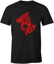 Beast Mode T Shirt MMA Bodybuilding Muscle Fitness Training Gym Workout Gift Max