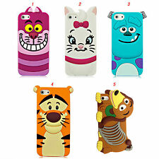 Cute 3D Cartoon Silicone Case Cover for Apple iPhone 4/4s 5/5s iPhone 6 6 Plus