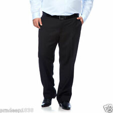 Formal Black Cotton Trouser Pants by John Wiley | Plus & Big Size : 40, 42 & 44