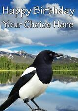 Magpie Lake All Occasions Personalised Greeting Card Birthday PIDMAG