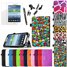 7in1 Bundle Folio Leather Case Cover for Samsung Galaxy Tab 3 7.0 inch SM-T