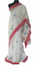 Indo Mood | Hand Woven Silk By Cotton Pure Chanderi Cream Color Saree