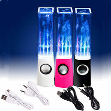 LED Dancing Water Speakers Stereo Music Fountain Light USB PC Laptop Rhythm