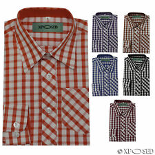 Kids Boys Smart Long Sleeve Wedding Party Checked Formal Shirt Age 1 to 10 Years