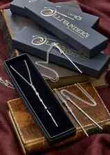 Harry Potter Official Wand Necklace HP Dumbledore Hermione Voldemort Gift Box UK