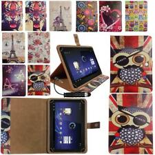 Universal Stylish Wallet Case Cover Stand Fits Kocaso MX 780 Tablet & Stylus