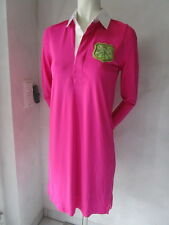 Ralph Lauren Rugbykleid QUINN RUGBY VESTITO OPACO JERSEY Fucsia Nuove