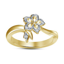 Elegant Design Flower Shape Women's Ring RD White CZ 925 Silver RD Cut  White CZ