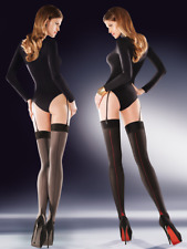 Elegant Semi Opaque Suspender Stockings with Back Seam 50 Denier Hosiery Cruze