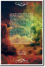 """Sylvia Plath The Bell Jar Quote Poster """"I saw my life..."""" Photo Print Gift"""