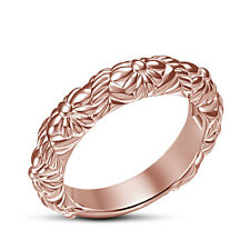 14K Rose Gold Plated 925 Sterling Silver Women's Very Attractive Band Ring