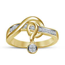 Girl'z! Fashion Design Gold Plated White Cubic Zirconia Diamond Anniversary Ring
