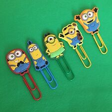 Minions / Despicable Me Quality Cute Paperclip Bookmark Bob Hula Stuart Tim NEW