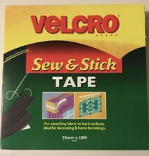 VELCRO® Sew and Stick Hook and Loop Tape Black 20mm Wide CUT TO SIZE 1/2/5/10M