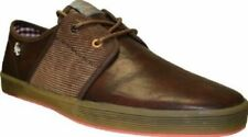"HERREN BASE LONDON ""FISH AND CHIPS"" VOLLLEDER KABEL BRAUN PLIMSOLES- SPAM-2"