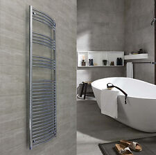 600mm Wide 1760mm High Chrome Heated Towel Rail Radiator Rad Electric Options