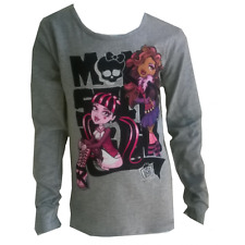 Tee shirt manches longues Monster High gris 12 ans