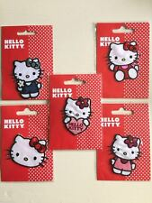 Official Hello Kitty Applique Motif Patches Iron On 7cm x 6.5cm Flower Bow Heart