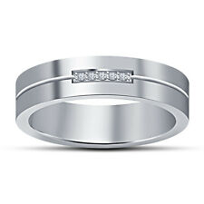 Women's Beautiful Five Stone Band Ring Over White Platinum 925 Sterling Silver
