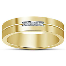 White Round CZ 925 Sterling Silver 14K Gold Plated Five Stone Ring For Women's