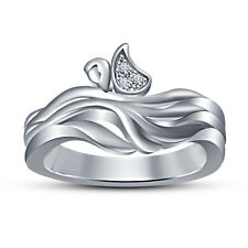 New SpecialCubic Zirconia White Platinum Plated 925 Sterling Silver Women's Ring