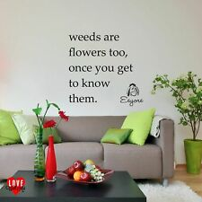 Eeyore quote wall art sticker Weeds are flowers too Disney Winnie the Pooh