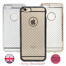 For Apple iPhone 6 6s PLUS Hard Back Silicone TPU Bumper Cover Case