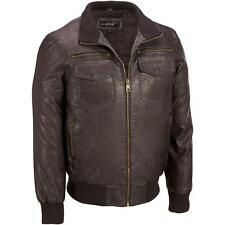 Black Rivet Mens Big & Tall Stand Collar Faux-Leather Bomber Jacket