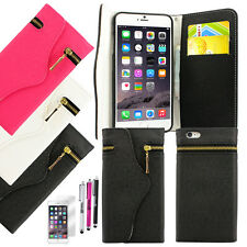 Leather Flip Cover Credit Card Wallet Case For iPhone 6 / 6S / 6 Plus / 6S