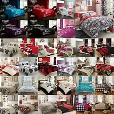 8pc BUMPER DUVET COVER WITH PILLOW CASE QUILT COVER BEDDING SET+SHEET + CURTAINS