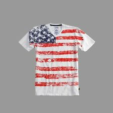 Alpha Industries T-Shirt US-T 156512 weiss white Sommer 2018 Army USA New York