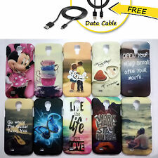 Samsung Galaxy S4 i9500 Case,Designer Hard back Case for S4 + Free Data Cable
