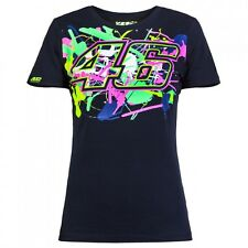 T-SHIRT MOTOGP 2016 VALENTINO ROSSI BLUE NAVY PAINT WOMAN