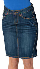 Gonna di jeans indaco blu gonna di jeans donna ragazze denim (91)