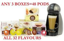 Nescafe Dolce Gusto Coffee Pods Capsules choose from 34 FLAVORS /48 PODS=3 BOXES
