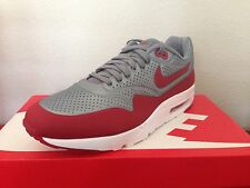 Nike AIR MAX 1 ULTRA MOIRE Mens Running Shoes Red Grey 705297 006 Size 9 -