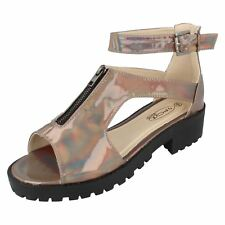 Ladies F10373 pewter  sandals by spot on Sale  price £9.99